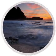 Consumed Round Beach Towel