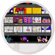 Contact Sheet Round Beach Towel