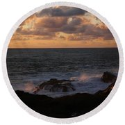 Contemplating In Paradise Round Beach Towel