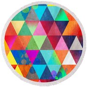 Contemporary 3 Round Beach Towel by Mark Ashkenazi