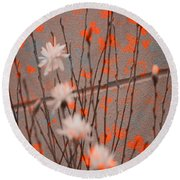 Contemporary Art - Butterfly Kisses - Luther Fine Art Round Beach Towel