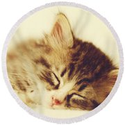 Content Kitty Round Beach Towel