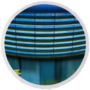 Contented Round Beach Towel