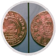 Continental Dollar, 1776 Round Beach Towel