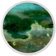 Continents Round Beach Towel