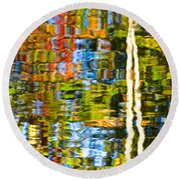 Contorted Clarity Round Beach Towel