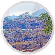 Controlled Burn Area In Kruger National Park-south Africa Round Beach Towel