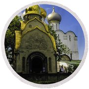 Convent - Moscow - Russia Round Beach Towel