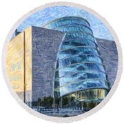 Convention Centre Dublin Republic Of Ireland Round Beach Towel