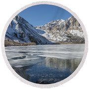 Convict Lake Morning Round Beach Towel