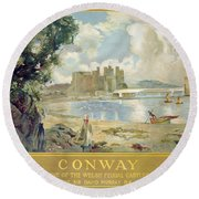 Conway Castle Round Beach Towel