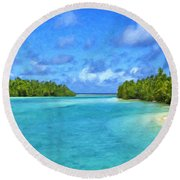 Cook Islands Lagoon Round Beach Towel