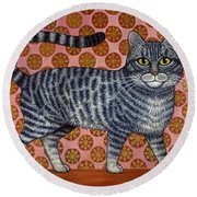 Cookie Cat Round Beach Towel