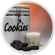Cookies And Milk Round Beach Towel