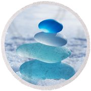 Cool Blues Round Beach Towel