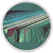 Cool Colors Abstraction Round Beach Towel