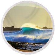 Cool Curl Round Beach Towel by Sean Davey