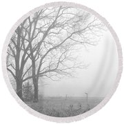 Cool Damp Foggy Round Beach Towel