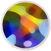 Cool Dappled Light Round Beach Towel