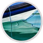 Cool Ocean Blues Round Beach Towel