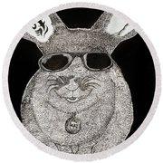 Cool Rabbit Round Beach Towel