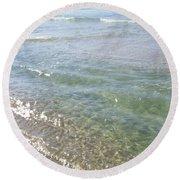 Cool Waters Round Beach Towel
