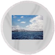 Cooper River Bridge Round Beach Towel