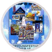 Cooper Young Festival Poster 2008 Round Beach Towel