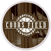 Coors Field - Colorado Rockies 15 Round Beach Towel by Frank Romeo