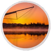 Coos Bay Sunrise II Round Beach Towel