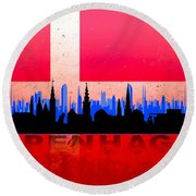 Copenhagen City Round Beach Towel