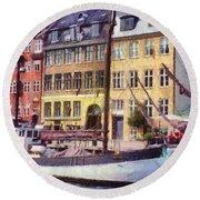 Copenhagen Round Beach Towel by Jeff Kolker