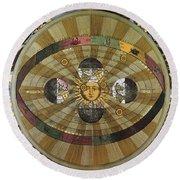 Copernican Universe Round Beach Towel