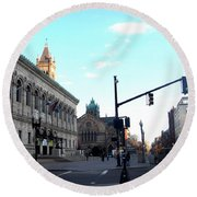 Copley Square - Old South Church Round Beach Towel