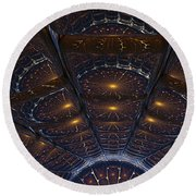 Copper Cathedral Round Beach Towel