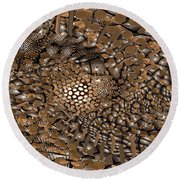 Copper Head Round Beach Towel