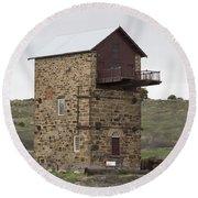 Copper Mine Enginehouse Round Beach Towel