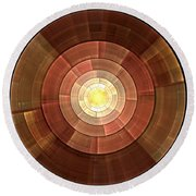 Copper Shield Round Beach Towel