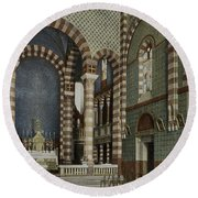 Coptic Church, Cairo, Egypt, 1906 Round Beach Towel by Getty Research Institute