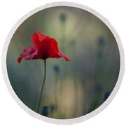 Coquelicot Impression Round Beach Towel