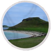 Coral Beach On The Isle Of Skye Round Beach Towel