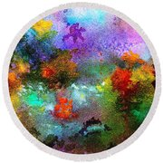 Coral Reef Impression 1 Round Beach Towel