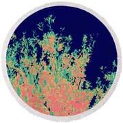 Coral Reef Abstract Round Beach Towel