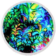 Coral Reef Beauty Round Beach Towel
