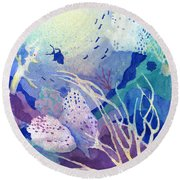 Coral Reef Dreams 4 Round Beach Towel