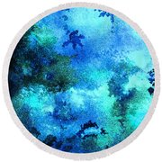 Coral Reef Impression 12 Round Beach Towel