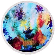 Coral Reef Impression 14 Round Beach Towel