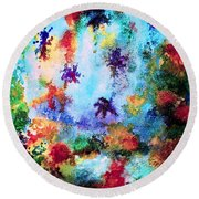 Coral Reef Impression 16 Round Beach Towel