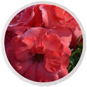 Coral Roses 2013 Round Beach Towel