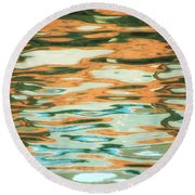 Coral Waves Round Beach Towel